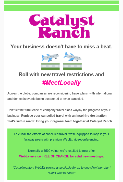 Catalyst Ranch open for business email