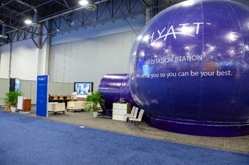 Hyatt Meditation Station at IMEX America